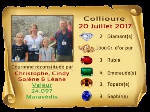 vainqueurs Collioure II 20 JUL 2017