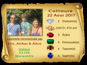 vainqueurs Collioure 22 AUG 2017