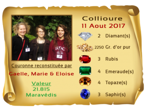 vainqueurs Collioure II deuxiemes 11 AUG 2017