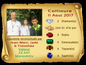 vainqueurs Collioure II premiers 11 AUG 2017