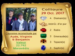 vainqueurs Collioure II 29 oct 2017